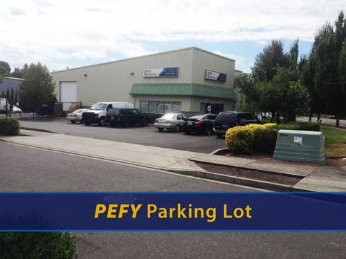 Image of the Printing Expressly for You parking area.