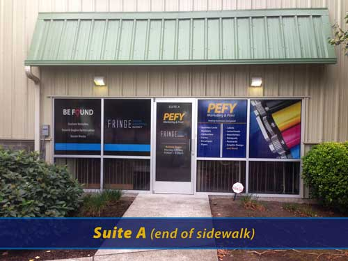 Image of the Printing Expressly for You store entrance.