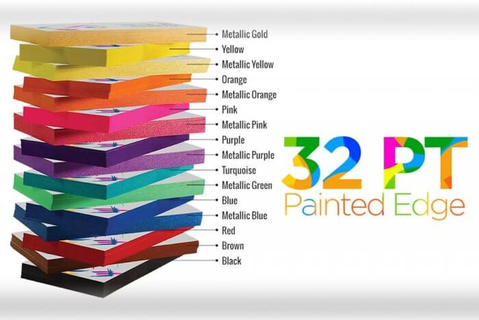 painted edge colors